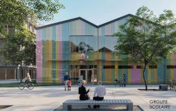 Vítězný návrh - detail budovy