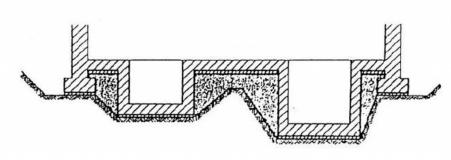 Obr. 3: Nevhodný tvar základové spáry