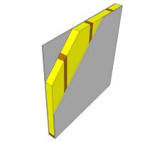 Obr. 1: A - stěna s dřevěnou rámovou konstrukcí
