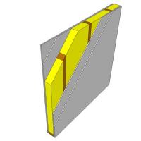 Obr. 4: Doporučené úpravy příčky s jednoduchým rámem: dvojité opláštění