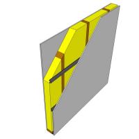 Obr. 4: Doporučené úpravy příčky s jednoduchým rámem: pružné kovové profily