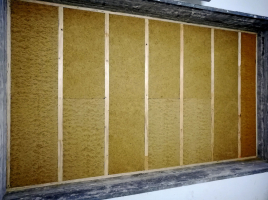 Obr. 6: Měření obvodové stěny – nosný dřevěný rošt s výplní