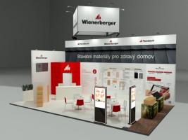 Vizualizace expozice Wienerberger - FOR ARCH 2021
