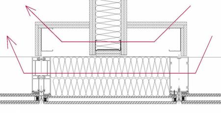 Napojení akustické příčky na LOP