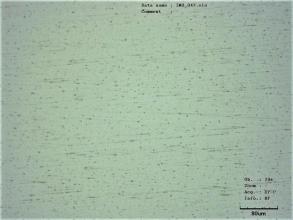 Obr. 3: Mikroskopický snímek povrchu skla
