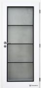 Interiérové dveře CLARA Dakota, černý rámeček (zdroj: DOORNITE)