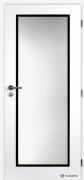 Dveře CLARA TAMPA bílé, černý rámeček (zdroj: DOORNITE)