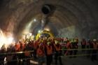 Slavnostní proražení železničního tunelu v Tureckém vrchu na Slovensku