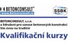 Kurz Provádění a kontrola sanací betonových konstrukcí I