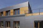 Moderní fasáda z materiálů Lindab na rodinném domě v Liberci