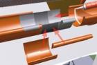 Řešení spojů hliníkových okapových žlabů