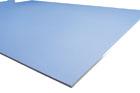 Modrá akustická impregnovaná deska Rigips do vlhkých prostor