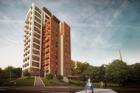 V Praze-Vysočanech vyrůstá nejvyšší bytový dům v Čechách
