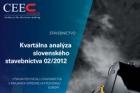 CEEC Research: Kvartální analýza slovenského stavebnictví 02/2012