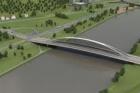 Prohlídka staveniště mostu přes Vltavu v Praze-Troji