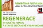 Výzva k zaslání příspěvků na konferenci Regenerace bytového fondu a staveb občanské vybavenosti