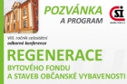 Program konference Regenerace bytového fondu a staveb občanské vybavenosti