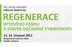 Poslední možnost přihlášení na konferenci Regenerace bytového fondu