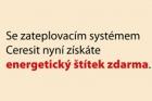 """Startuje promoakce ETICS Ceresit Ceretherm """"Energetický štítek zdarma"""""""
