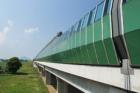 Protipožární sklo Pyropane® – první aplikace v protihlukovém dálničním tubusu