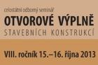 Program konference Otvorové výplně 2013