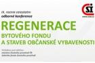 Nová témata na konferenci Regenerace bytového fondu