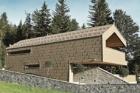 Obytný dům ve vysokohorském prostředí s hliníkovými panely FX.12