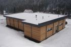 Nový Ski servis v obci Pstruží od RD Rýmařov se sádrovláknitými deskami fermacell